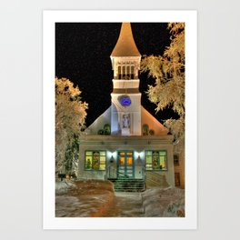 Immaculate Conception Church, Fairbanks Alaska Art Print