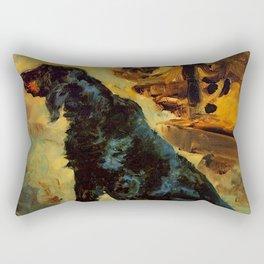 "Henri de Toulouse-Lautrec ""Dun, a Gordon Setter Belonging to Comte Alphonse de Toulouse Lautrec"" Rectangular Pillow"
