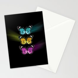 3 colorful butterflies Stationery Cards