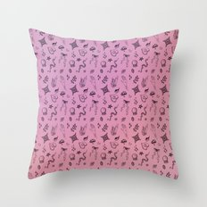Spoopy Pattern Throw Pillow