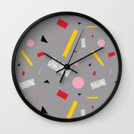 Memphis Milano Deconstructed Tahiti Table Lamp Confetti Wall Clock