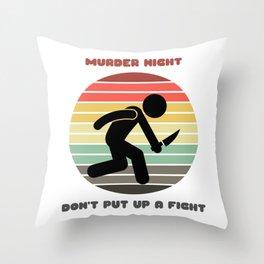 Sunset Serial Killer / Murder Night Throw Pillow
