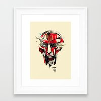 doom Framed Art Prints featuring DOOM by chuma hill