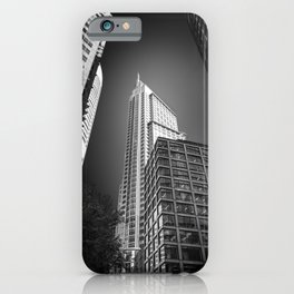Sydney City Towers - Upwards perspective in black and white. iPhone Case