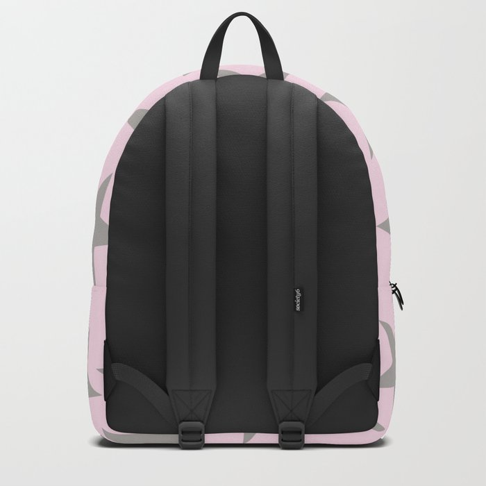 Grey stars on pink background pattern Backpack