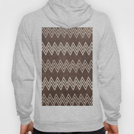 Vintage brown white rustic faux leather chevron Hoody