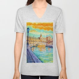 Water Reflections Unisex V-Neck