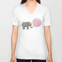 bubble V-neck T-shirts featuring Jumbo Bubble by Monica Gifford
