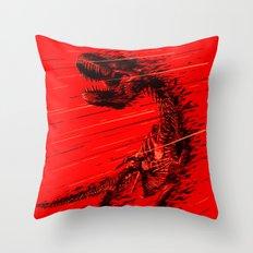 Extinction of a T Rex Throw Pillow