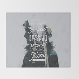 Sherlock - Angels Throw Blanket