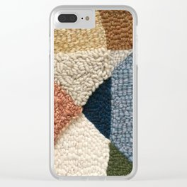 Interests Collide Rug Hooked Art Clear iPhone Case