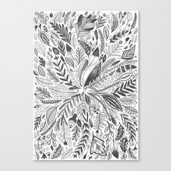 Botanic Pattern Canvas Print