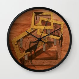 Abstract Rectangles Wall Clock