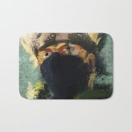 Grunge Copy Ninja Bath Mat