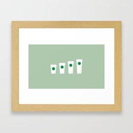 New York Normal: Starbucks. Framed Art Print