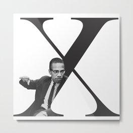 Malcolm X Typography Metal Print