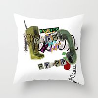 telephone Throw Pillows featuring telephone  by Gianluca Floris