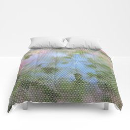 Wet Leafy Color Pattern Comforters