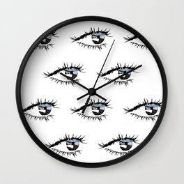 Eye Print Wall Clock