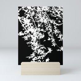 white on black Mini Art Print