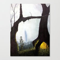 everything merges with the night Canvas Print