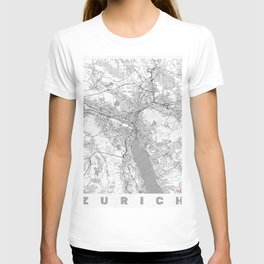 Zurich Map Line T-shirt