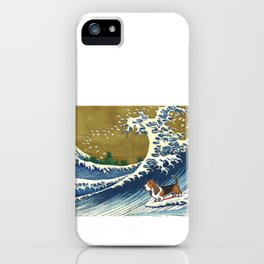 Basset Hound Surfing iPhone Case