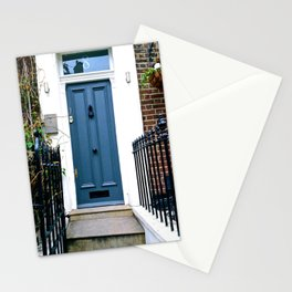 Blue Door in Notting Hill Stationery Cards