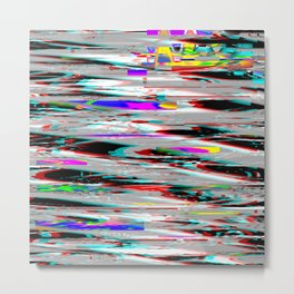 Glitch effect psychedelic background Metal Print
