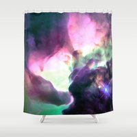 nebula Shower Curtains featuring Pastel nebULa by 2sweet4words Designs