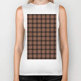 Dark Brown Weave Biker Tank