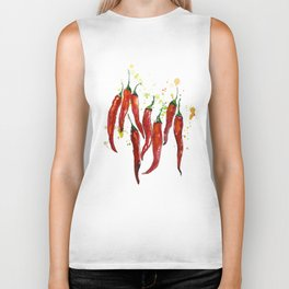 red chili pepper Biker Tank