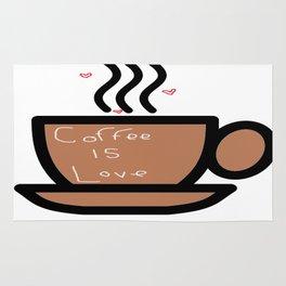 Coffee is Love Rug
