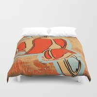 vespa Duvet Covers featuring Vespa by Wood Grian & Grits