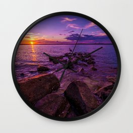 Flamingo Florida Sunset Wall Clock