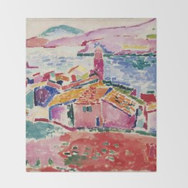 View of Collioure - Henri Matisse - Exhibition Poster Throw Blanket