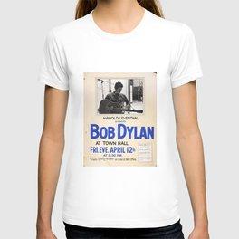 Vintage 1963 Bob Dylan Concert Poster T-shirt