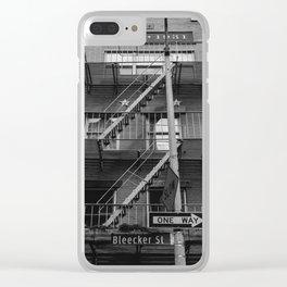 Bleecker Street II Clear iPhone Case