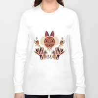 deco Long Sleeve T-shirts featuring Mono Deco by Ashley Hay