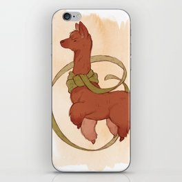 Scarf Alpaca iPhone Skin