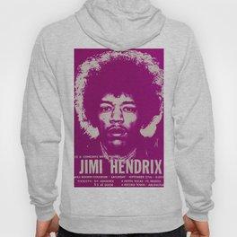 1969 Jimi Hendrix Concert Handbill Poster, Will Rogers Colosseum, Ft. Worth, Texas Hoody