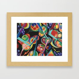 Colorful Abstract Fruit Framed Art Print