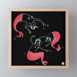 The Mermaids Framed Mini Art Print