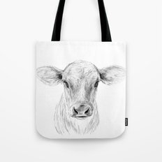 Moo ::  A Young Jersey Cow Tote Bag