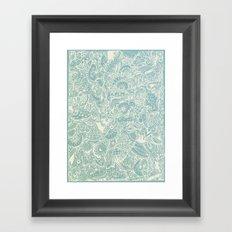Detailed rectangle, light blue Framed Art Print