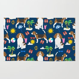 Beagle beach vacation dog breed lover beagles must haves summer gifts Rug
