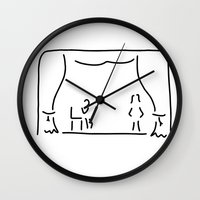 actor Wall Clocks featuring actor theatre stage by Lineamentum