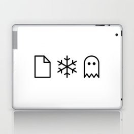 Paper, Snow, A Ghost. Laptop & iPad Skin