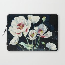 Crystal Dream and Reality, White Poppy Magic Laptop Sleeve