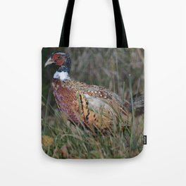 Male Ring Necked Phesant Tote Bag